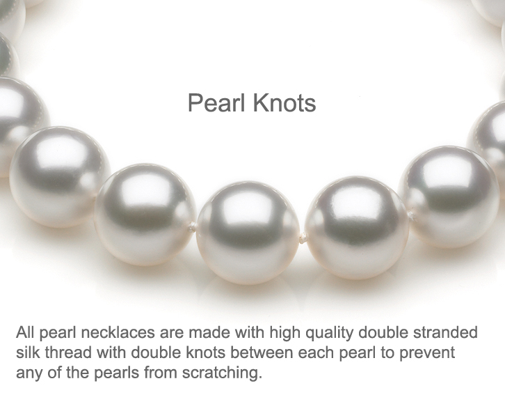 The Strand Of Pearls Shown In Picture Above Are White Bodycolor As You Can See From Close Up Each Pearl Is Strung On Double Stranded Silk Thread