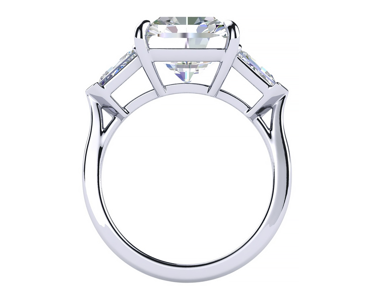 Diamond Engagement Ring Cross Section  View