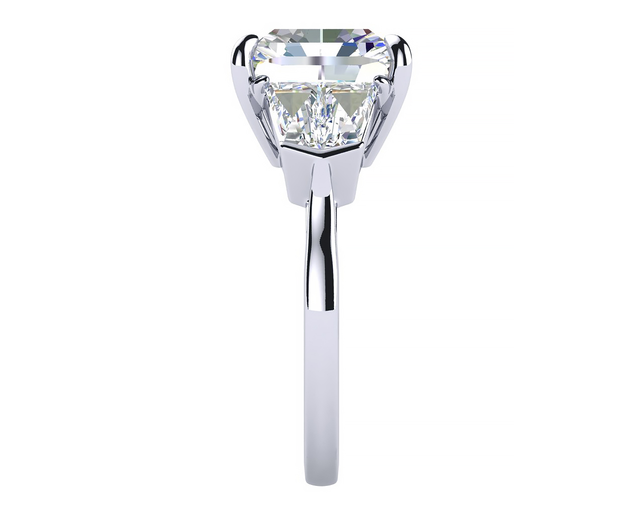 Diamond Engagement Ring Profile View