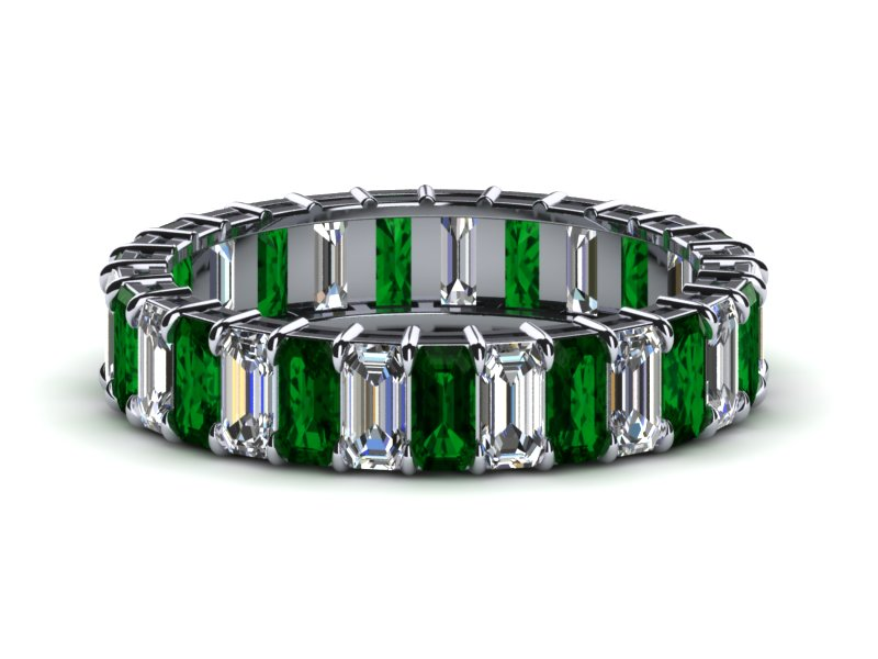 each p product anniversary cut tcw diamond bands rings c ring emerald band ct