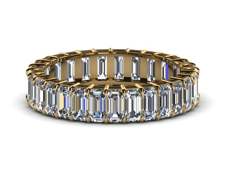 diamond yellow eternity special gold order engagement bands band