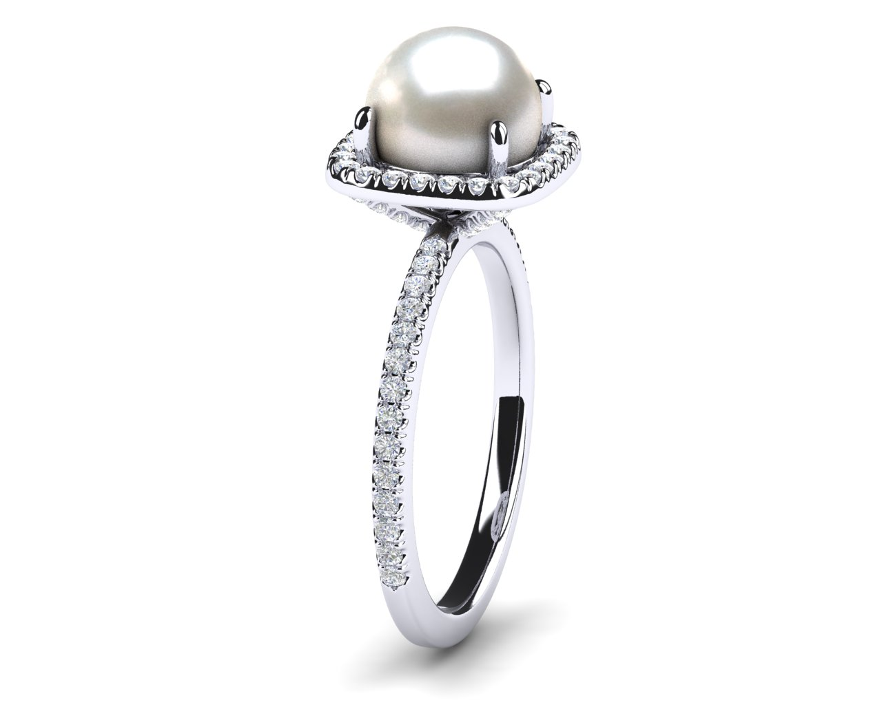 engagement rings lily south collections white products treacy cleo sea collection pearl diamond ring