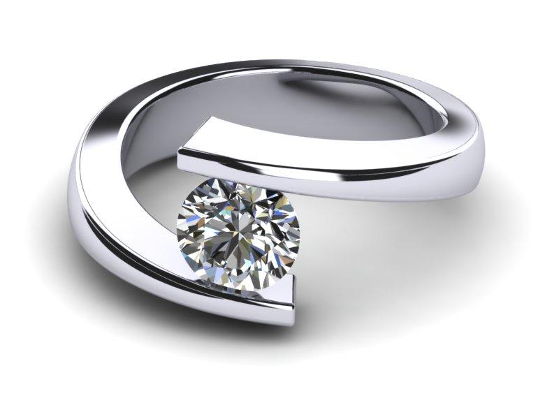 Platinum Spiral Tension Ring