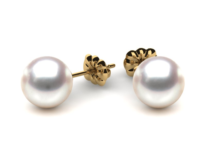 round june pearl birthstone stud freshwater brown cultured earrings golden