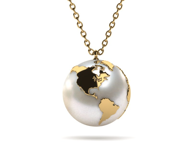14k yellow gold white pearl the world is your oyster pendant choose your metal14k yellow gold mozeypictures Choice Image