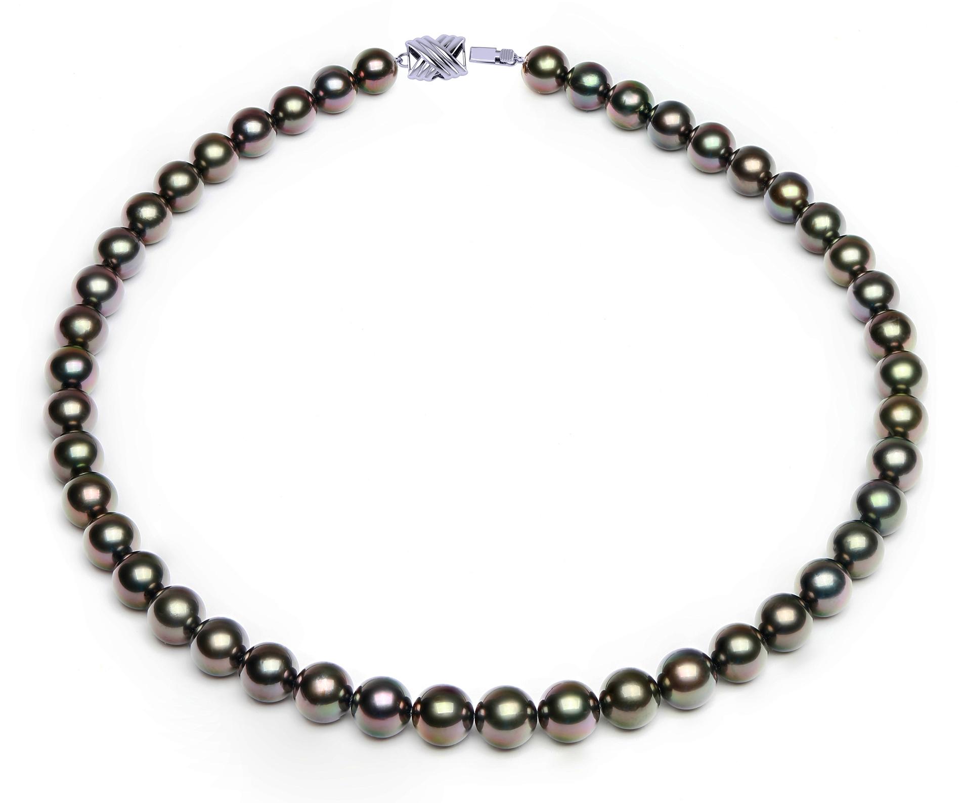 Argent Sterling 8-9 mm Black Cultured Pearl Earring et collier Set msrp$ 296