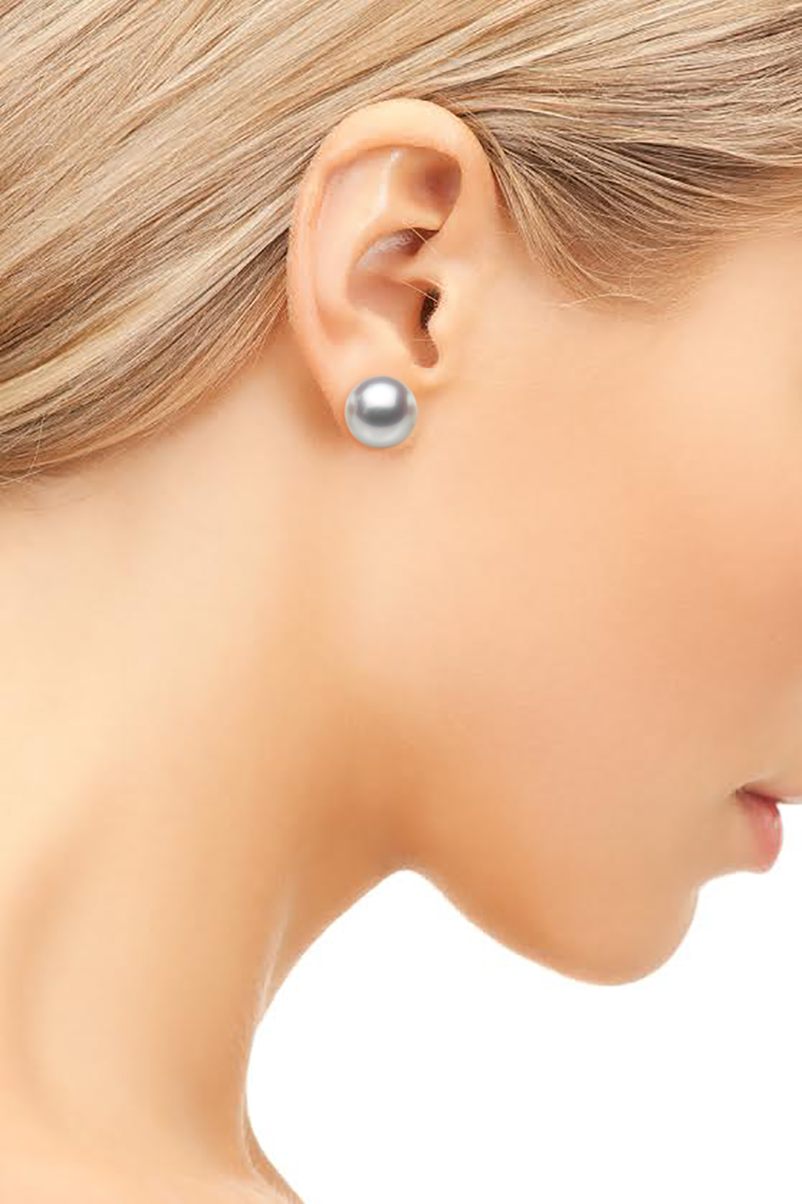 9mm White South Sea Rose Pearl Studs