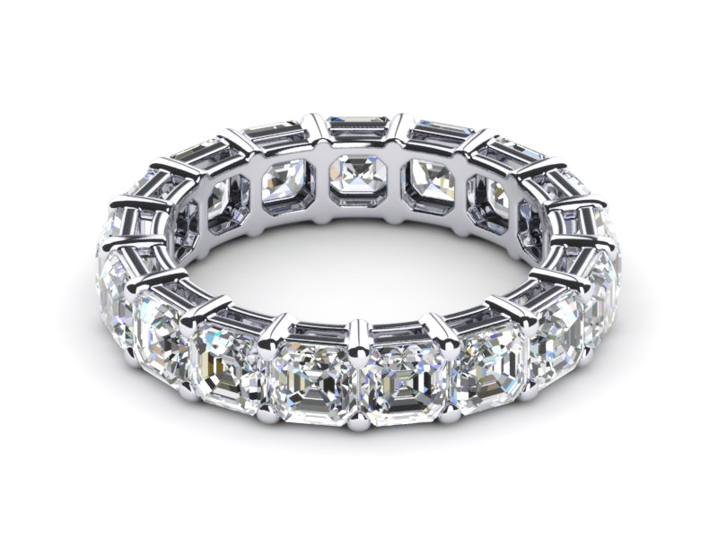 washington band ring asscher pieces diamond wedding platinum dc cut