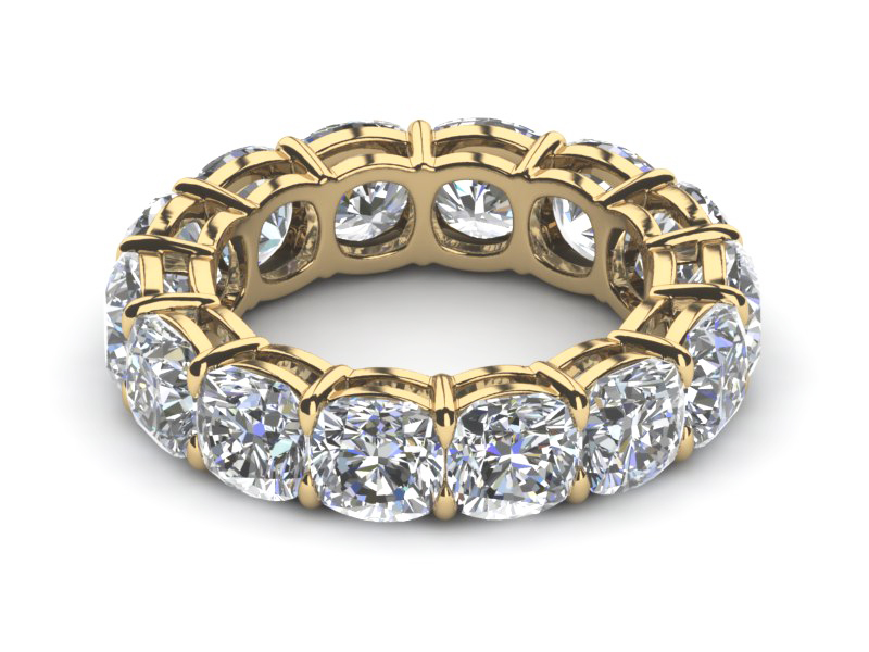 bands yellow etcufy cushion cut band diamond uneek in fancy gold eternity